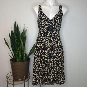 Enfocus Studio giraffe print dress size 8